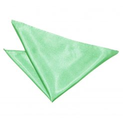 Mint Green Satin Pocket Square