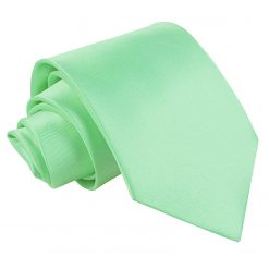 Mint Green Satin Classic Tie