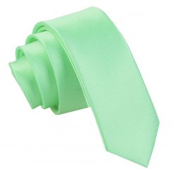 Mint Green Satin Skinny Tie