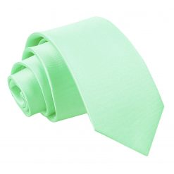 Mint Green Satin Slim Tie