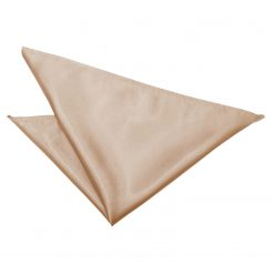 Mocha Brown Satin Pocket Square