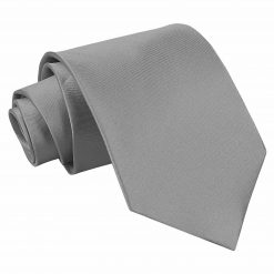 Platinum Satin Extra Long Tie