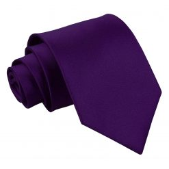 Purple Satin Extra Long Tie