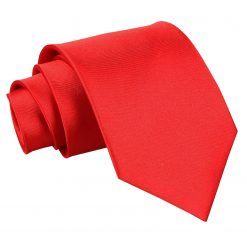 Red Satin Extra Long Tie