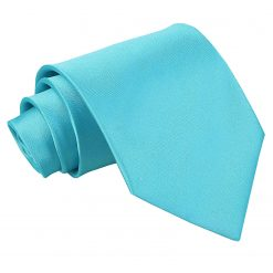 Robin's Egg Blue Satin Extra Long Tie