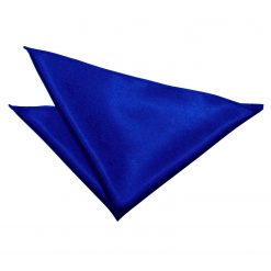 Royal Blue Satin Pocket Square