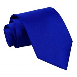 Royal Blue Satin Extra Long Tie