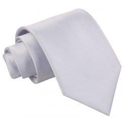 Silver Satin Extra Long Tie