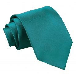 Teal Satin Extra Long Tie