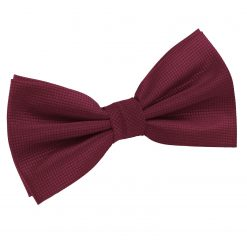 Burgundy Solid Check Pre-Tied Thistle Bow Tie