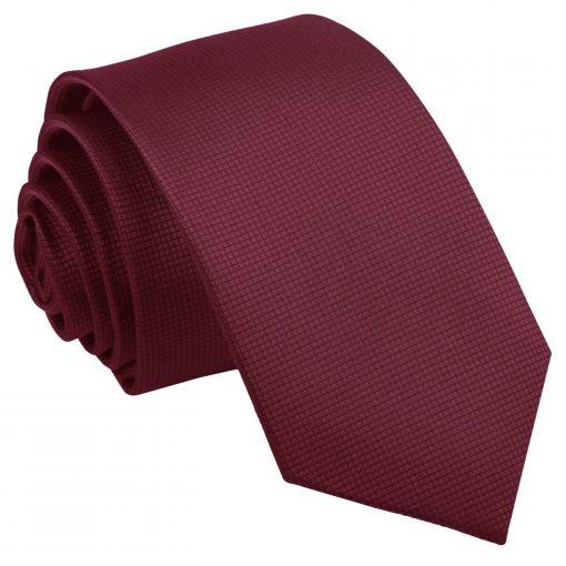 solid_check_burgundy_slim_tie