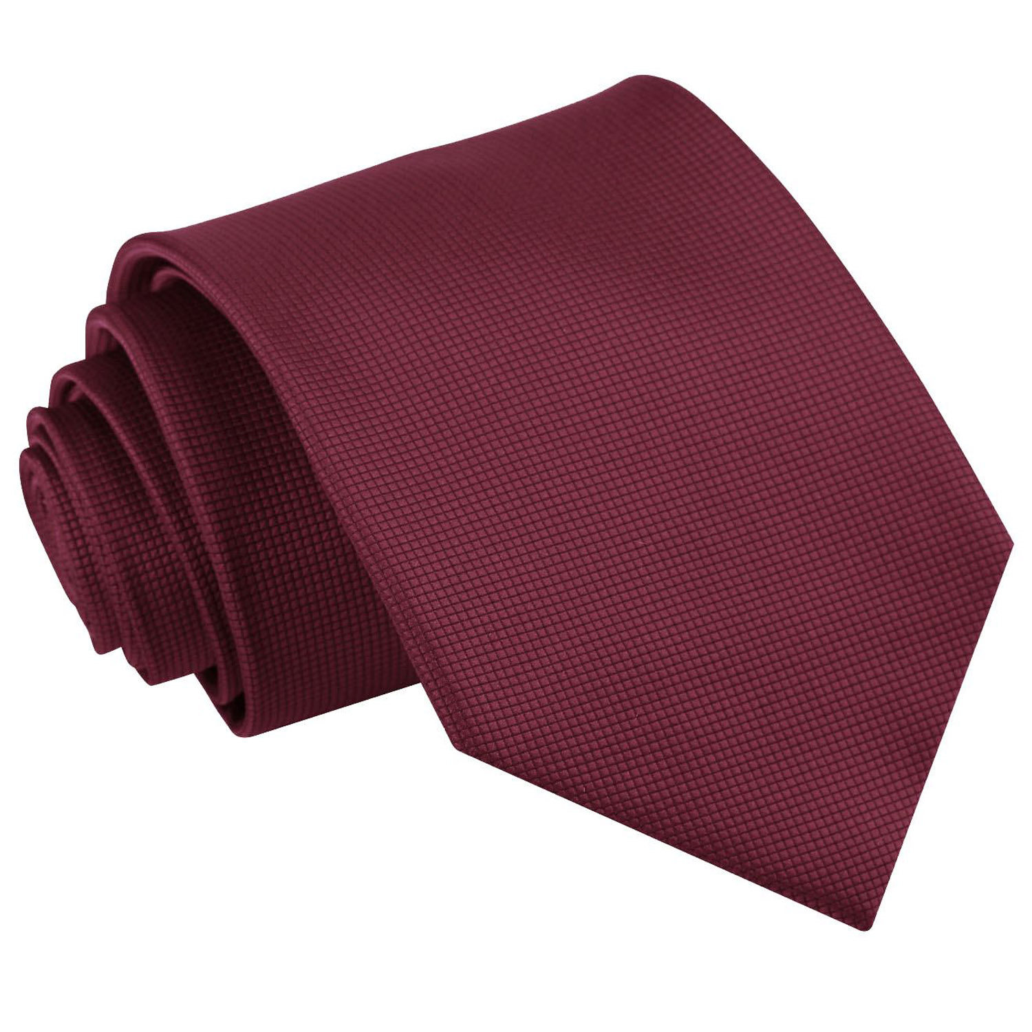 229cefe03f134 Burgundy Solid Check Classic Tie - James Alexander
