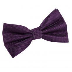 Cadbury Purple Solid Check Pre-Tied Thistle Bow Tie