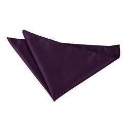 Cadbury Purple Solid Check Pocket Square