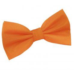 Celosia Orange Solid Check Pre-Tied Thistle Bow Tie
