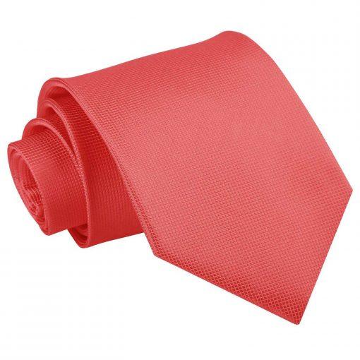 solid_check_coral_tie