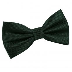 Dark Green Solid Check Pre-Tied Thistle Bow Tie