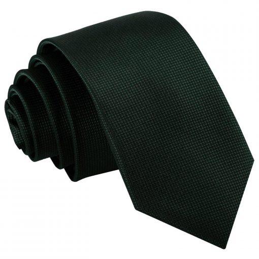solid_check_dark_green_slim_tie