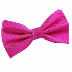 Fuchsia Pink Solid Check Pre-Tied Thistle Bow Tie