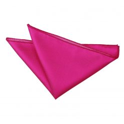 Fuchsia Pink Solid Check Pocket Square