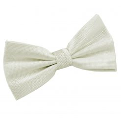 Ivory Solid Check Pre-Tied Thistle Bow Tie