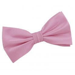 Light Pink Solid Check Pre-Tied Thistle Bow Tie