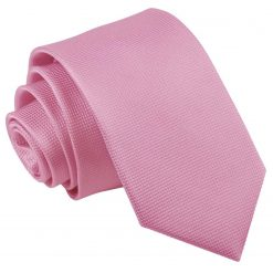 Light Pink Solid Check Slim Tie