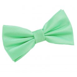 Mint Green Solid Check Pre-Tied Thistle Bow Tie