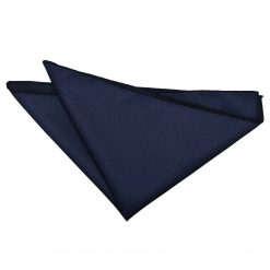 Navy Blue Solid Check Pocket Square