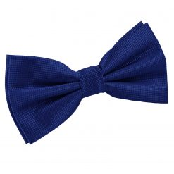 Royal Blue Solid Check Pre-Tied Thistle Bow Tie