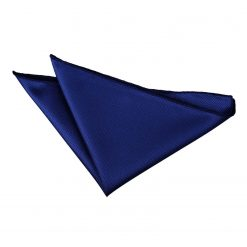 Royal Blue Solid Check Pocket Square