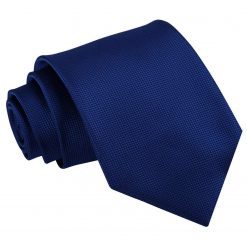 Royal Blue Solid Check Classic Tie