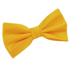 Sunflower Gold Solid Check Pre-Tied Thistle Bow Tie