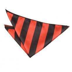 Red & Black Striped Pocket Square