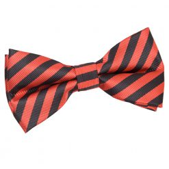 Black & Red Thin Stripe Pre-Tied Thistle Bow Tie