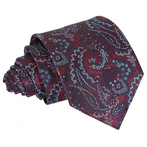 Burgundy & Navy Royal Paisley Classic Tie