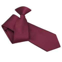 Burgundy Solid Check Clip On Slim Tie