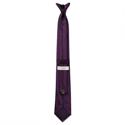 Cadbury Purple Solid Check Clip On Slim Tie