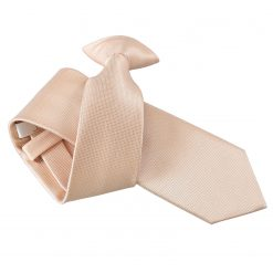 Champagne Solid Check Clip On Slim Tie