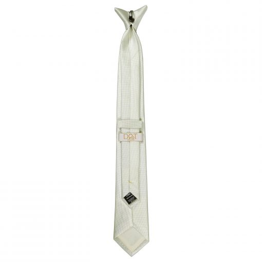 Ivory Solid Check Clip On Slim Tie