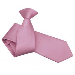 Light Pink Solid Check Clip On Slim Tie