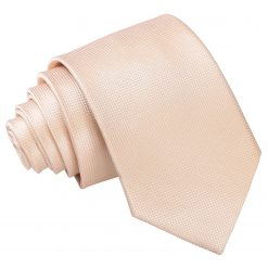 Champagne Solid Check Slim Tie