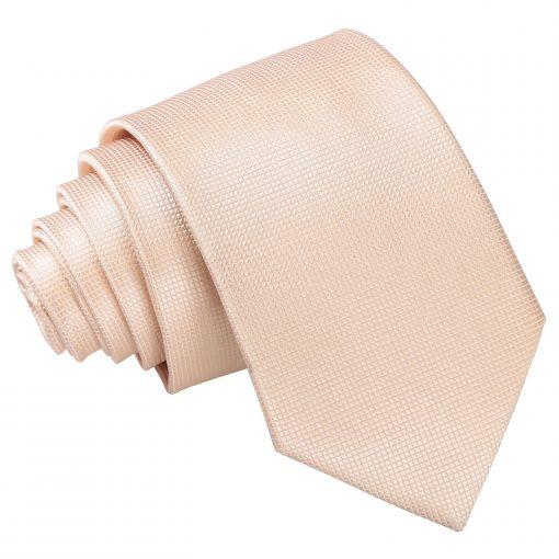 Champagne Solid Check Slim Tie