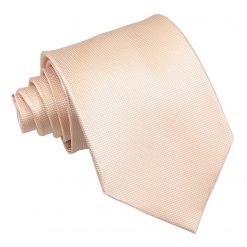 Champagne Solid Check Classic Tie