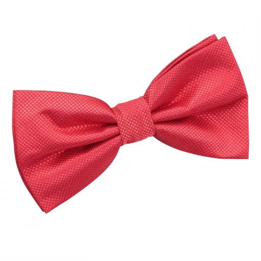 Red Solid Check Pre-Tied Thistle Bow Tie