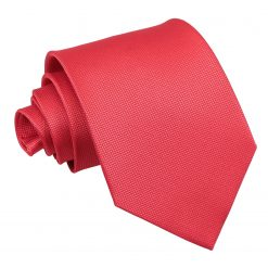 Red Solid Check Classic Tie