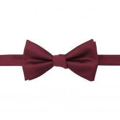 Burgundy Solid Check Self Tie Thistle Bow Tie