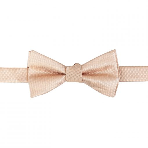 Champagne Solid Check Self Tie Thistle Bow Tie