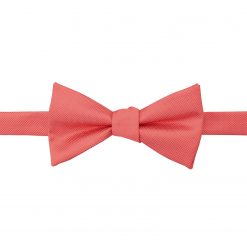 Coral Solid Check Self Tie Thistle Bow Tie