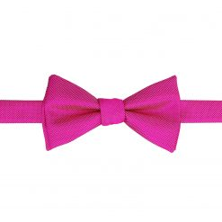 Fuchsia Pink Solid Check Self Tie Thistle Bow Tie